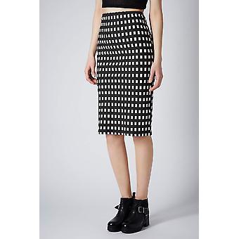ブラック ギンガム チェック チューブ スカート UK サイズ 4