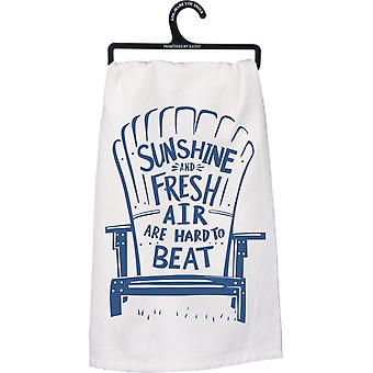 Sunshine and Fresh Air Are Hard to Beat Kitchen Dish Towel Cotton