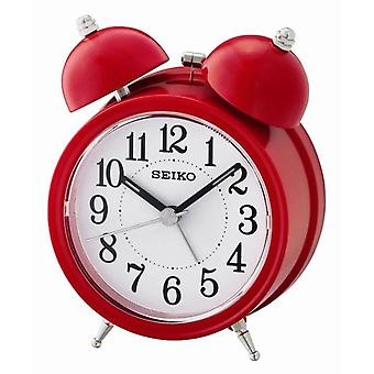 Seiko Bell Alarm Clock with Light and Snooze - Red (QHK035R)