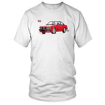 BMW M3 klassisk Retro bil damer T skjorte