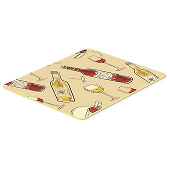 Carolines Treasures  BB5196CMT Red and White Wine Kitchen or Bath Mat 20x30