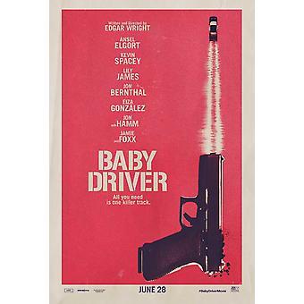 Baby Driver elokuvajuliste (11 x 17)
