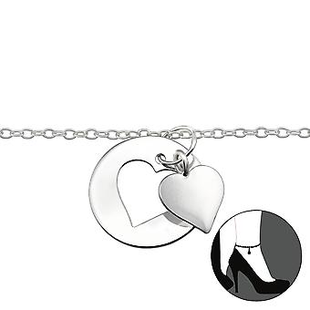 Heart - 925 Sterling Silver Anklets - W29977X