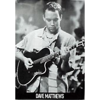 Dave Matthews B&W Guitar Poster Poster Print