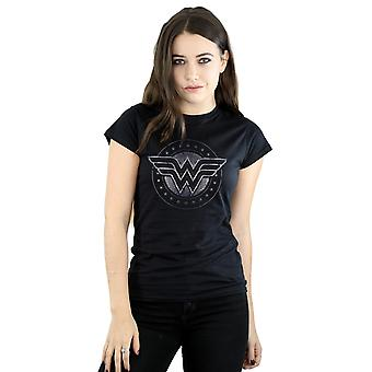 Maravilha mulher escudo estrela t-shirt DC Comics mulher
