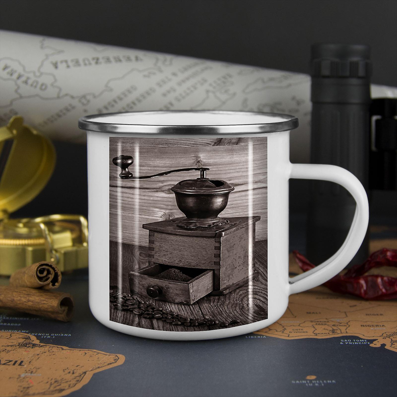 Kaffee Alt coole neue WhiteTea Kaffee Emaille Mug10 oz | Wellcoda