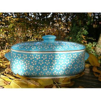 Bread bowl, 2nd choice, vol. 4 litre, Bolesławiec turquoise, BSN J-904