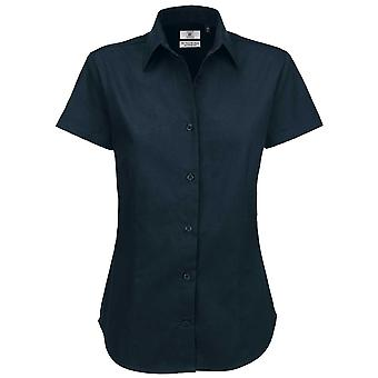 B&C Collection Sharp Short Sleeve Twill Cotton Ladies Smart Formal Work Shirt