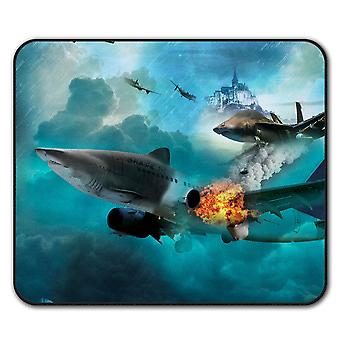 Fighter Jet Cool Fashion  Non-Slip Mouse Mat Pad 24cm x 20cm | Wellcoda