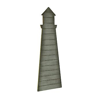 Rustic Wood Lighthouse Shaped Wall Hanging