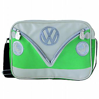 VW Bobil Van PVC Retro Messenger Bag - grønn