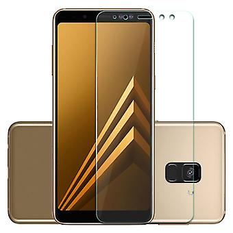 Premium 0,3 mm taivutettu H9 kova lasi avoimuutta elokuva Samsung Galaxy A8 A530F 2018