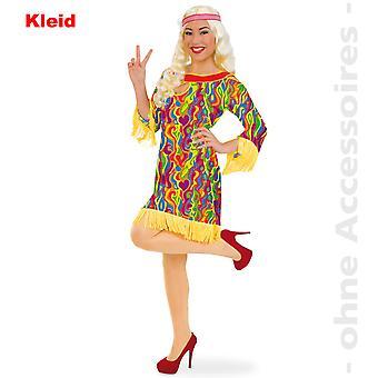 Hippie jurk dames kostuum bloemenmeisje 60s kostuum Lady kostuum kleurrijke Hippie jurk