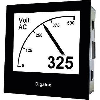 TDE Instruments Digalox DPM72-AV Digital rack-mount meter Graphical DIN-panelmeter for Voltage and Ampere TDE Instruments Digalox DPM72-AV