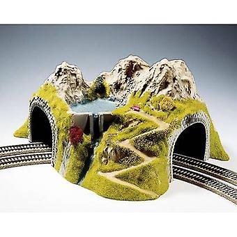 NOCH 05180 H0 Tunnel 2-gleis montiert, gebogen