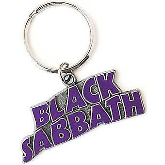 Llavero Metal de Sabbath negro ondulado logotipo