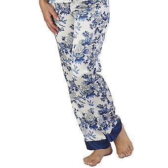 Slenderella GL2773 Women's Floral Satin Floral Pajama Pyjama Set
