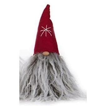 Tomte grey beard with hood 20cm tygtomte textile