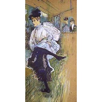 Jane Avril Dancing, Henri Toulouse-Lautrec, 80x40cm