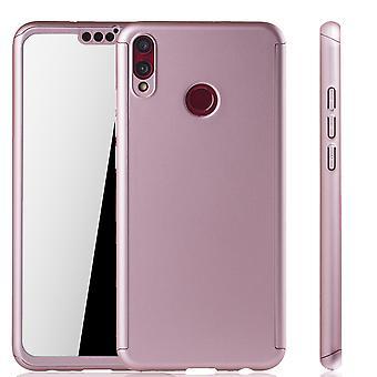 Huawei כבוד 8X טלפון מקרה הגנה-מקרה מלא כיסוי טנק הגנה זכוכית רוז