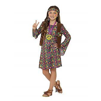 Hippi lapsi puku kukka tyttölasten Carnival teema osapuoli