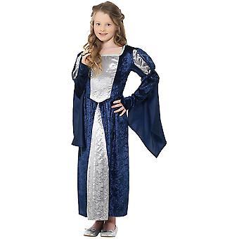 Middeleeuwen rechter dame kasteel Miss meisje kinderen kostuum jurk carnaval middeleeuwse meid kostuum