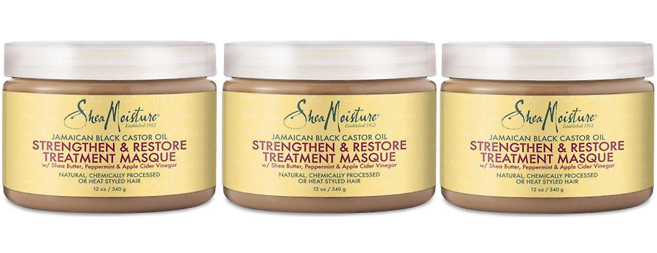 Shea Moisture Jamaican Black Castor Oil Strengthen & Restore Treatment Masque 340g (3-Pack)