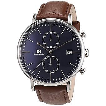 デンマーク デザイン メンズ本革アナログクォーツ腕時計 3314506