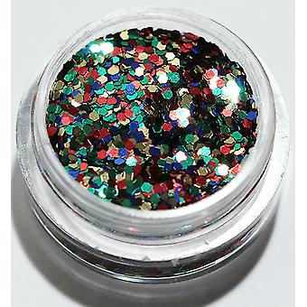 1pcs Sechseck Glitter bunt