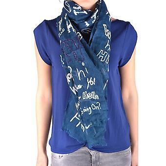 Altea Ezbc048090 Women's Blue Linen Scarf
