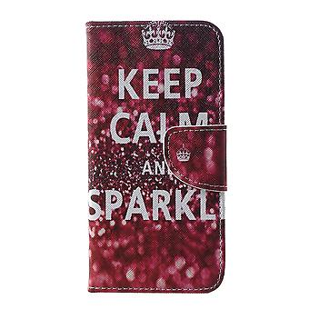 Samsung Galaxy S10e Plånboksfodral - Quote Keep Calm and Sparkle