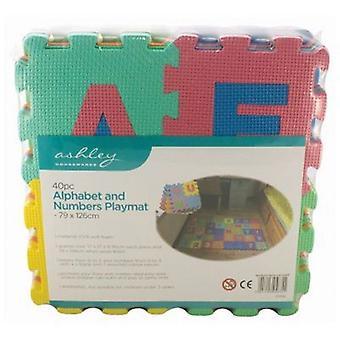 40pc alphabet & Numbers EVA mousse tapis de jeu ensemble enfants intérieur extérieur utilisation jardin