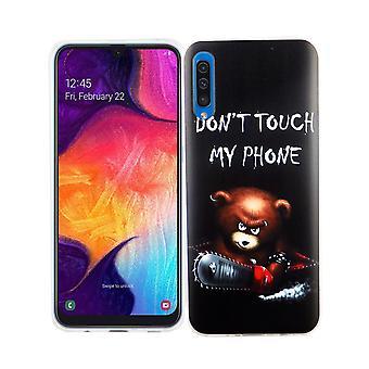 Samsung Galaxy A50 König-Shop Handy-Hülle Schutz-Case Cover Bumper Dont Touch My Phone Bär