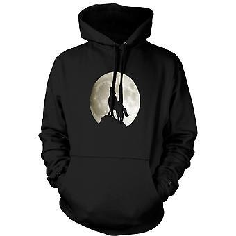 Kids Hoodie - loup hurlant à la lune