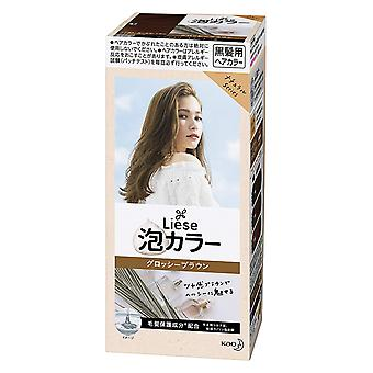 Prettia Kao Liese Bubble Hair Color, Glossy Brown 11, 3.38 Fluid Ounce