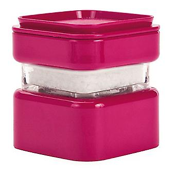 Zak Designs Square Stacking Salt Mill, Raspberry Pink