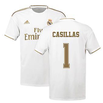 2019-2020 Real Madrid Adidas Home Fußball Trikot (CASILLAS 1)