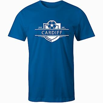 Cardiff City 1889 gevestigde badge voetbal T-shirt