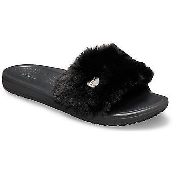 Crocs Donne Sloane Luxe Fluffy Slip On Summer Sliders