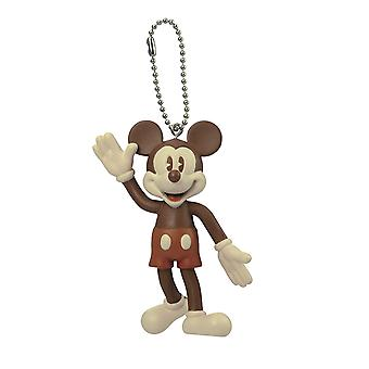 Key Chain - Disney - Mickey ( Brown) PVC Bendable New 85632