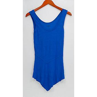 G.I.L.I. lo tiene me encanta Mujeres's Top Rib Asymmetrical Peplum Azul A277117