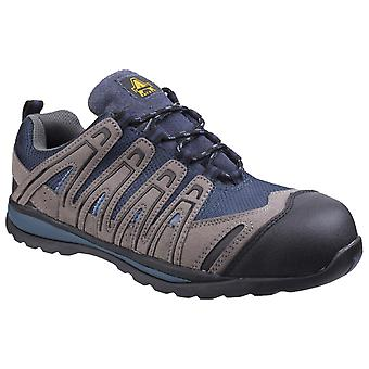Amblers Safety Mens FS34C Metal Free Lightweight Lace up Safety Trainer Blue