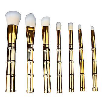 Makeup brush Set, 7 brushes-bamboo shaped