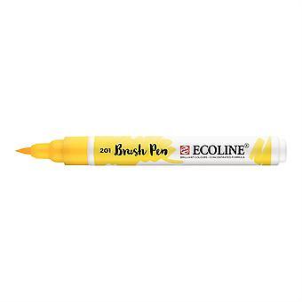 Talens Ecoline Liquid Watercolour Brush Pen - 201 Light Yellow