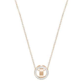 Swarovski Pendant Hollow - petit - blanc - rose plaqué or