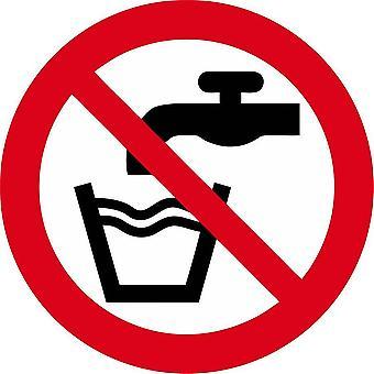 Sticker Sticker Water Non Potable Not Forbidden Drink Panel