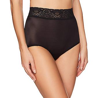 Bali Women's Lacy Skamp Brief Panty, Black, 6, Black, Size 6.0