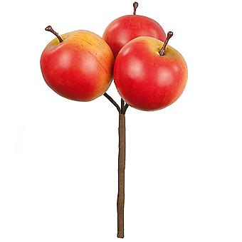 17cm 3 Realistic Artificial Apples Pick for Floristry Crafts