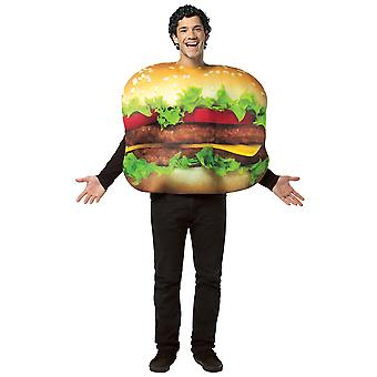 Cheeseburger Hamburger Fast Food Women Men Costume