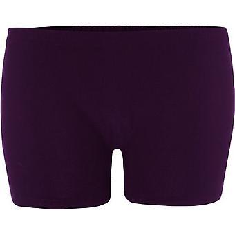 Wicked Nights Purple Lycra Hot Pants L/XL